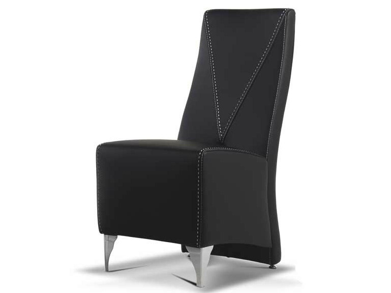 Upholstered leather chair CORA by Formenti