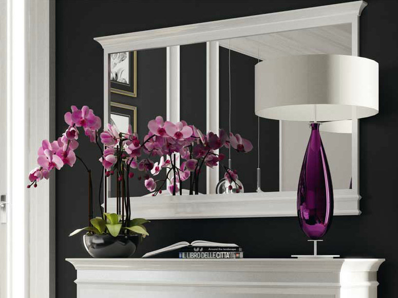 Rectangular wall-mounted framed mirror VIOLET by Formenti