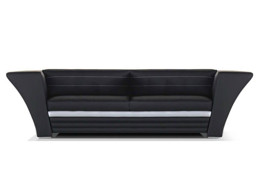 Leather sofa with headrest AVATAR | Sofa by Formenti
