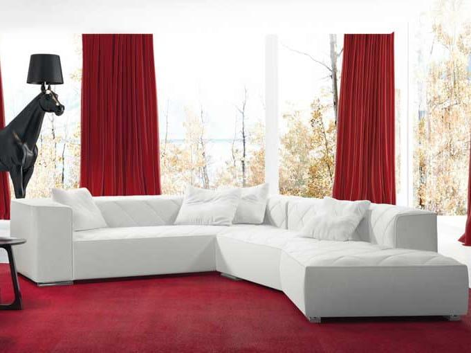 Corner leather sofa BEAUTY | Corner sofa by Formenti