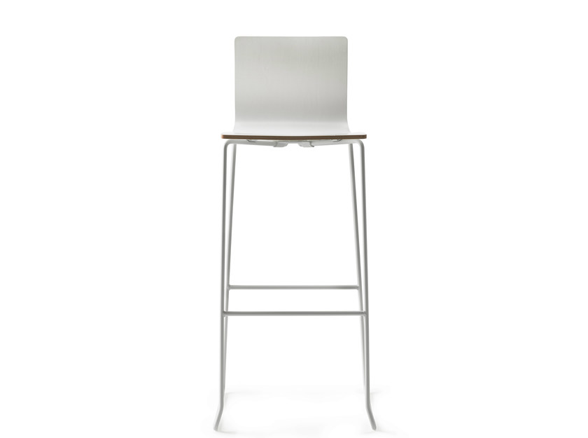 Sled base counter stool with footrest DANE 75 by ONDARRETA