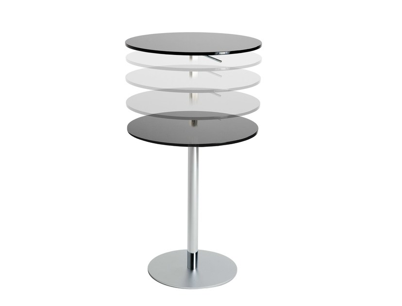 Height-adjustable high table DISCO by ONDARRETA