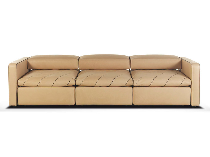 Recliner 3 seater leather sofa with headrest ISLAND by Formenti