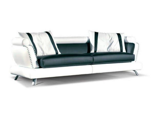 Leather sofa INTESA by Formenti