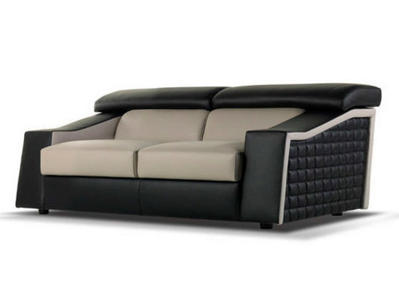 Leather sofa ROLLER by Formenti