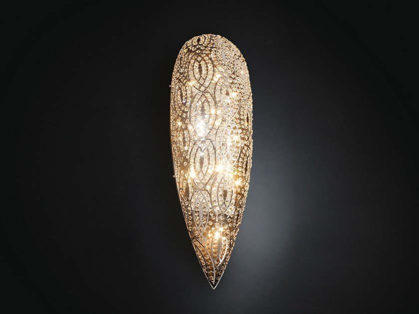 Wall light with crystals ARABESQUE DROP by VGnewtrend