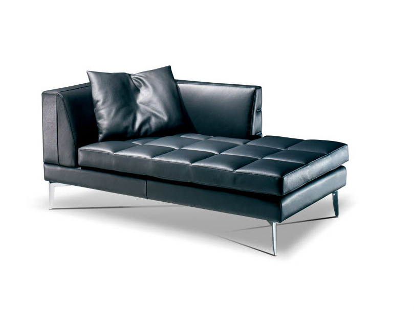 Upholstered leather day bed PRESTIGE | Day bed by Formenti