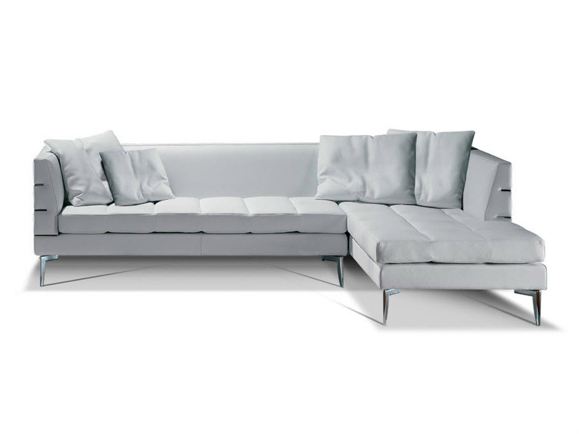 Corner leather sofa PRESTIGE   Corner sofa by Formenti