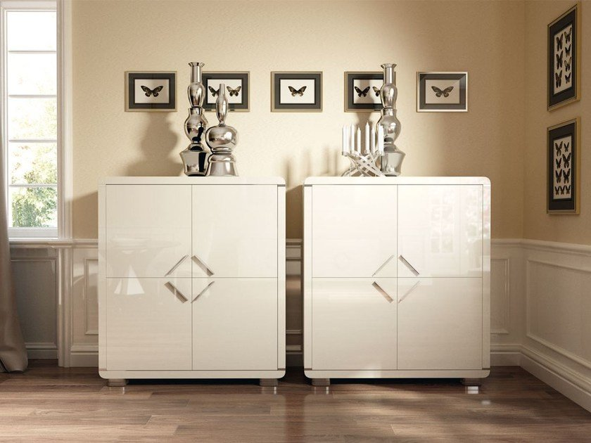 Lacquered highboard with doors HELIA | Highboard by Formenti