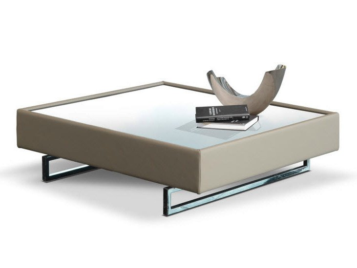 Low square coffee table for living room SIAC by Formenti