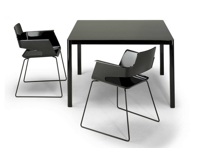 Square HPL table LA TABLE 80X80 | Square table by arrmet