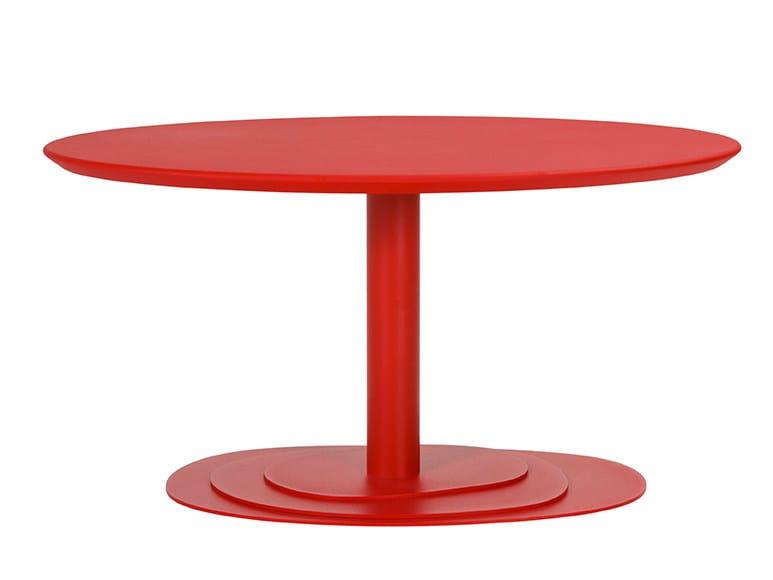 Oval steel coffee table TRIO 40 by ONDARRETA