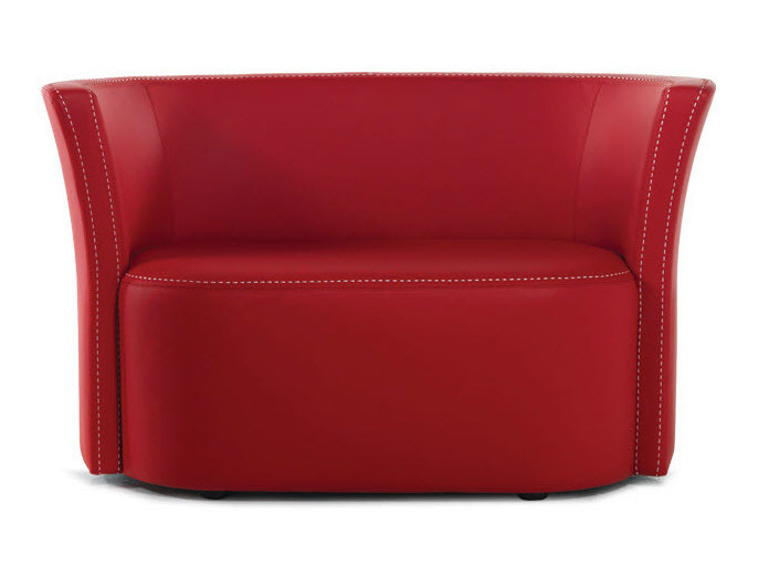 Leather small sofa FLUT | Small sofa by Formenti