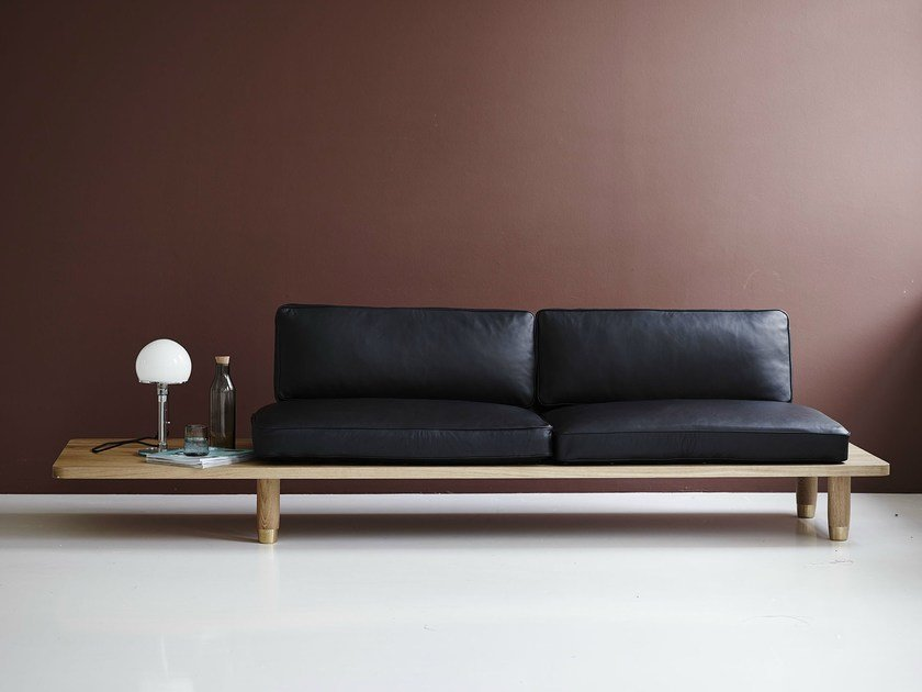 2 seater leather sofa PLANK SOFA | Leather sofa by dk3