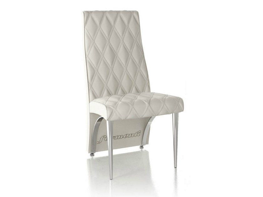 Upholstered leather chair SANDY by Formenti