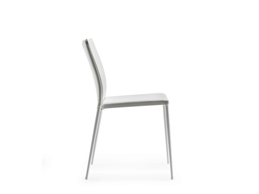 Upholstered stackable chair MOKA by ONDARRETA
