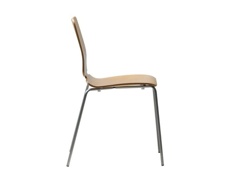 Stackable wooden chair NOA | Stackable chair by ONDARRETA