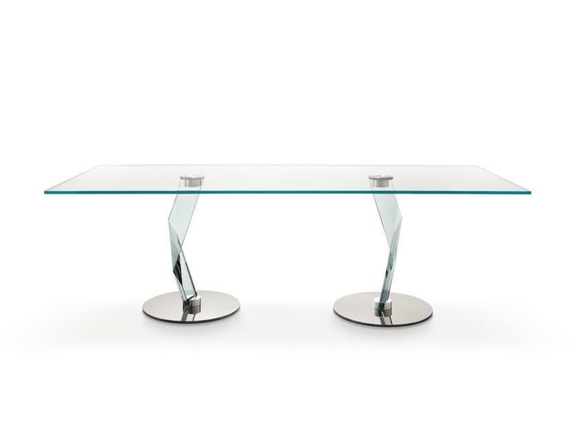 Rectangular crystal table BAKKARAT   Rectangular table by Tonelli Design