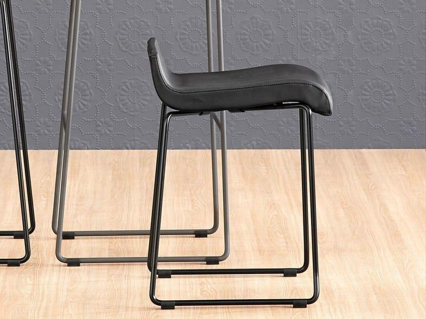 Sled base stool NOA 45 by ONDARRETA