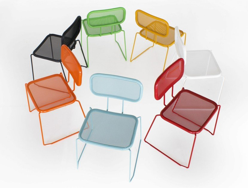 Sled base garden chair TIE BREAK   Chair by Inday