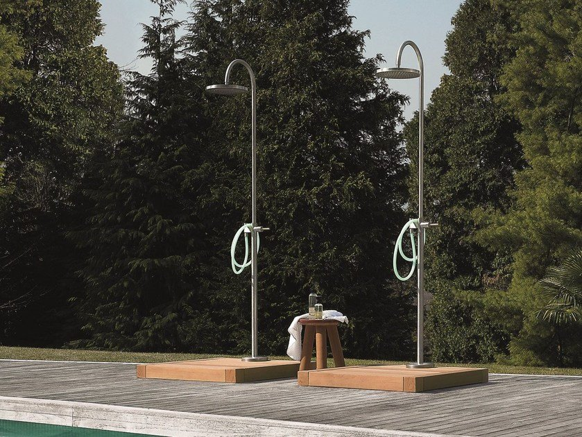 Stainless steel outdoor shower SHOWER COLUMNS by Kos by Zucchetti