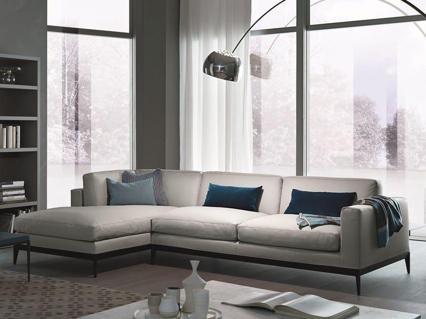 Corner sectional modular leather sofa ANTIBES | Leather sofa by MisuraEmme
