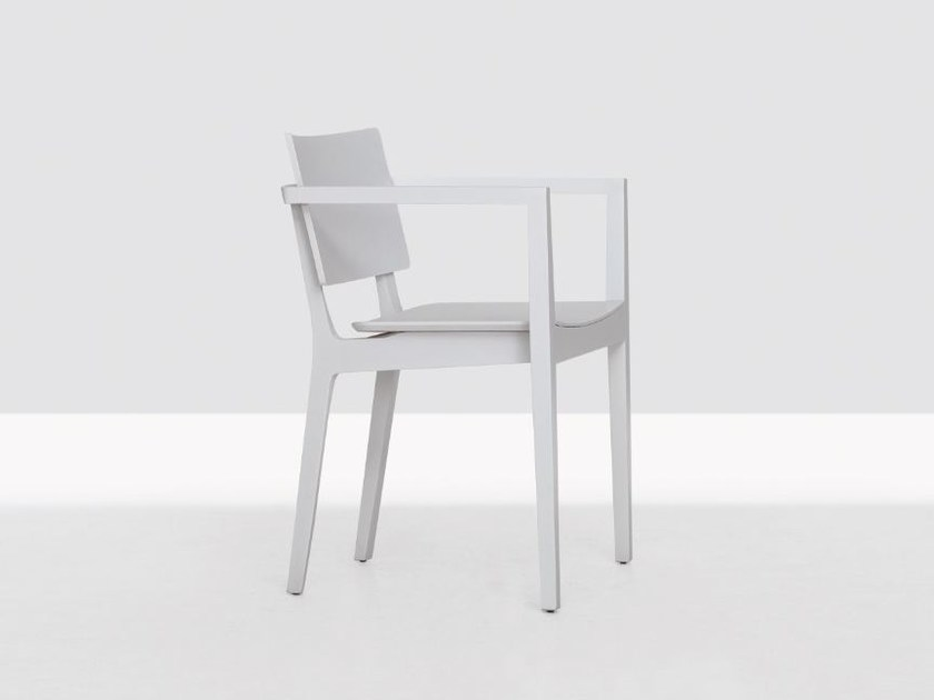 Wooden chair with armrests FINN COMFORT by ZEITRAUM