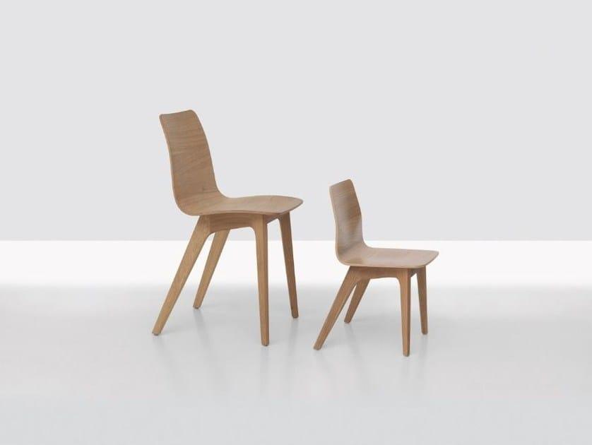 Wooden kids chair MORPH KID by ZEITRAUM