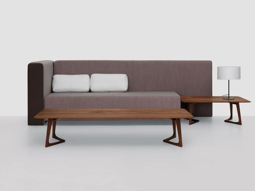 Low rectangular wooden coffee table TWIST COUCH   Rectangular coffee table by ZEITRAUM