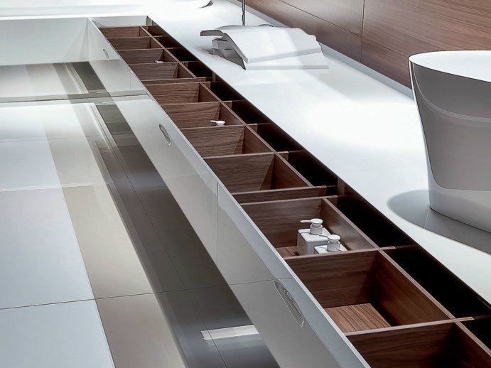 Bathroom unit with one drawer ATELIER LEVEL 45 by FALPER