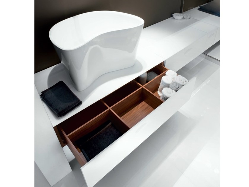 One drawer unit with basin opening ATELIER LEVEL 45 by FALPER