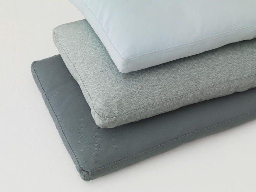 Rectangular fabric sofa cushion PILL by ZEITRAUM