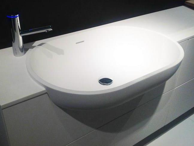 Semi-inset oval Cristalplant® washbasin SCOOP   Semi-inset washbasin by FALPER
