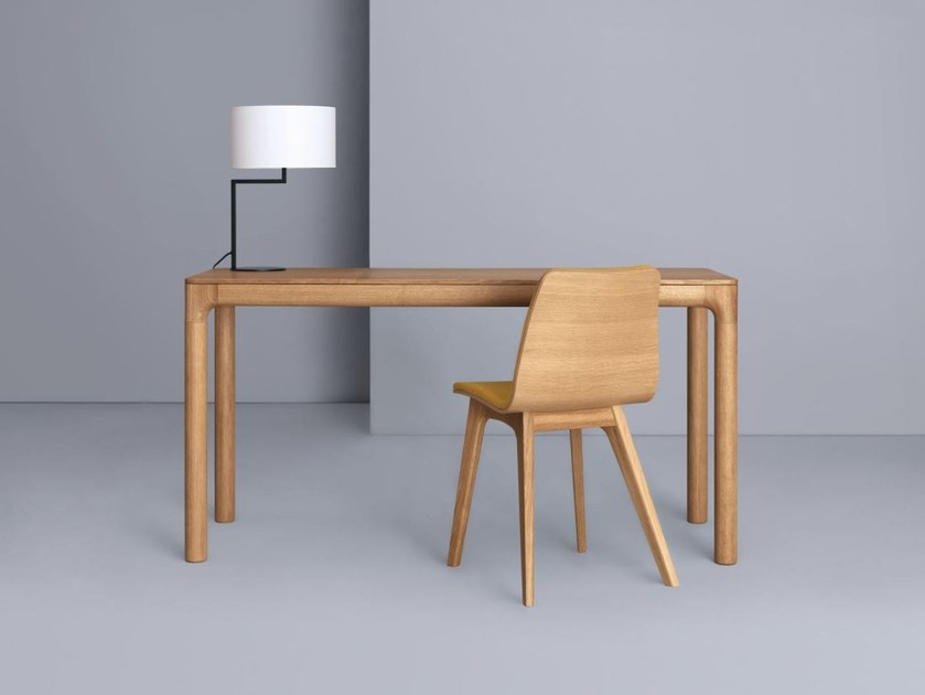 Extending rectangular wooden table M11 DESK by ZEITRAUM