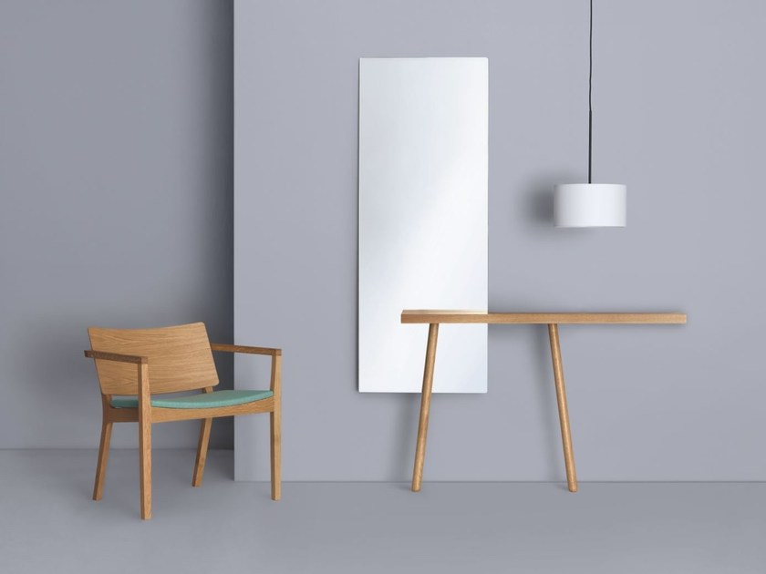 Rectangular wall-mounted mirror CARLO by ZEITRAUM