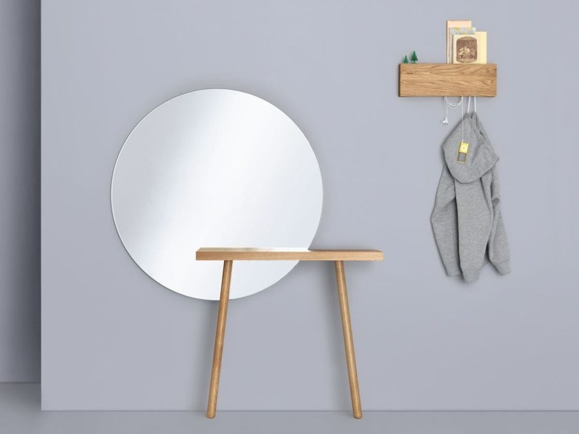Round wall-mounted mirror CARLA by ZEITRAUM