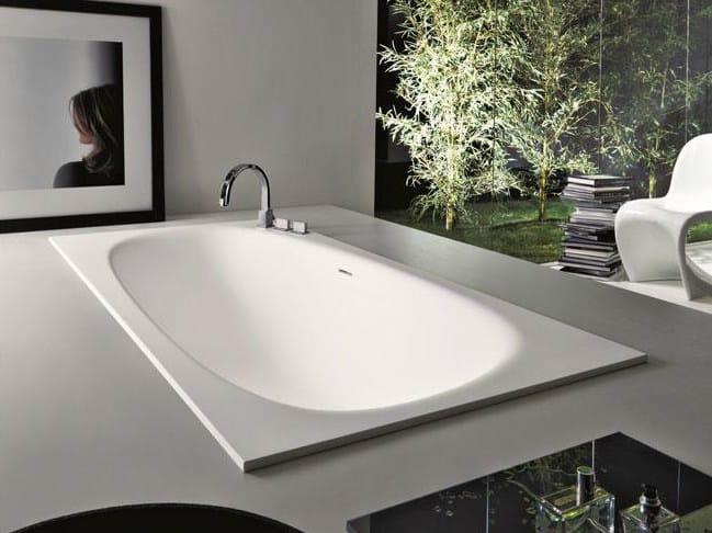 Built-in Cristalplant® bathtub SHAPE | Built-in bathtub by FALPER