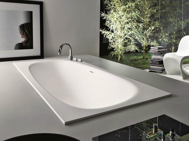 Vasca da bagno in Cristalplant® da incasso SHAPE | Vasca da bagno da ...