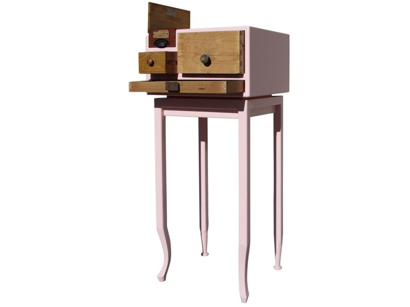 Wooden chest of drawers COMETA by ICI ET LÀ