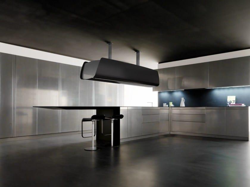 Carbon fibre kitchen with peninsula INVISIBILE | Kitchen with peninsula by TONCELLI CUCINE