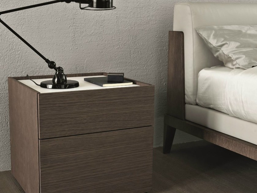 Rectangular oak bedside table CUBE | Bedside table by MisuraEmme