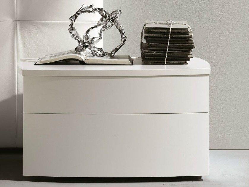 Lacquered rectangular bedside table with drawers FRIDA WALL by MisuraEmme