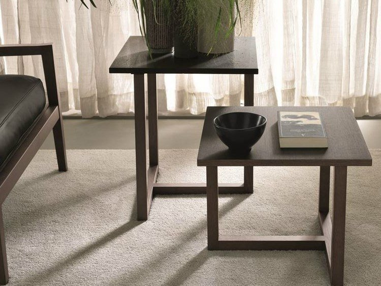 Marble coffee table / bedside table HILL | Square coffee table by MisuraEmme