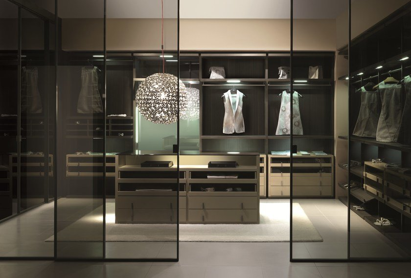 Wooden walk-in wardrobe MILLIMETRICA | Walk-in wardrobe by MisuraEmme