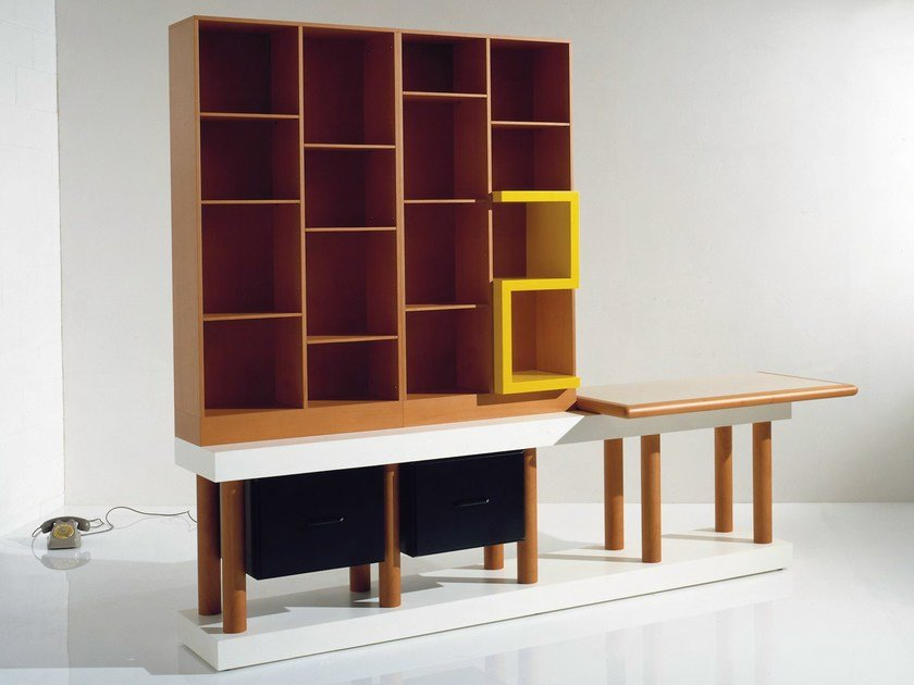 Wooden bookcase with drawers Bookcase by OAK