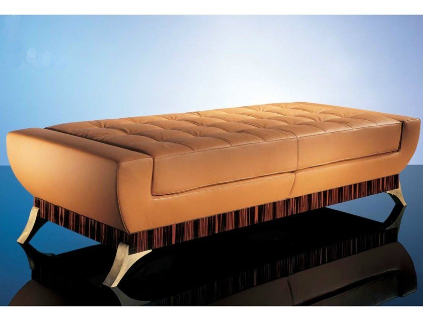Upholstered leather bench SC1006 by OAK