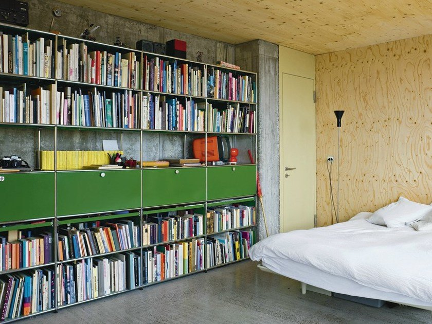 Librerie In Metallo Componibili.Libreria A Giorno Componibile In Metallo Usm Haller Bookshelves