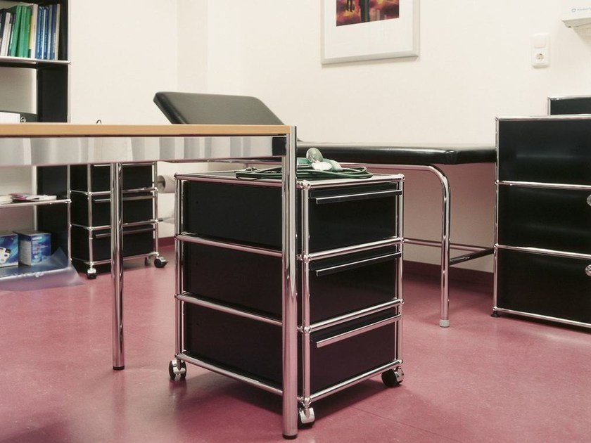 Metal office drawer unit with casters USM HALLER PEDESTAL | Office drawer unit by USM
