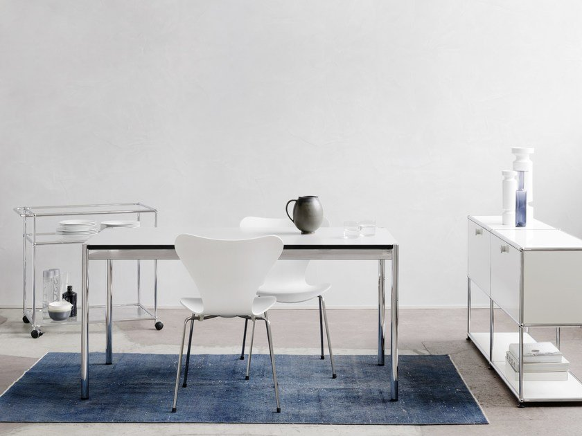 usm haller dining table h henverstellbarer tisch by usm design fritz haller. Black Bedroom Furniture Sets. Home Design Ideas