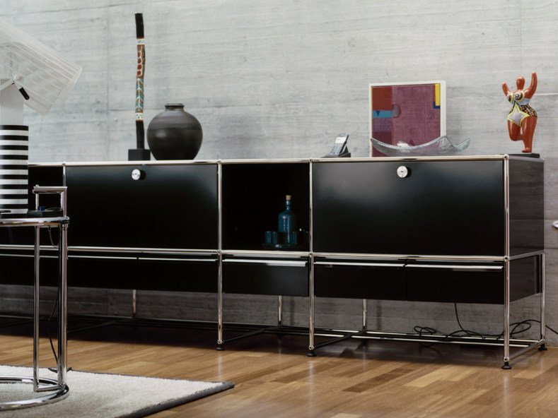 Madia componibile laccata in metallo USM HALLER CREDENZA FOR LIVING ROOM | Madia componibile by USM
